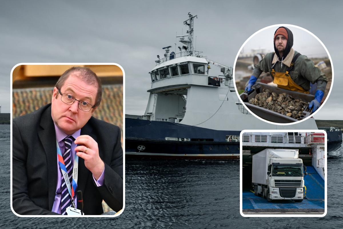 Pengangkut Shetland, kemarahan krisis feri perusahaan makanan laut