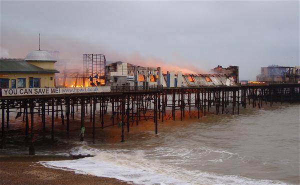 HeraldScotland: Hastings Pier fire