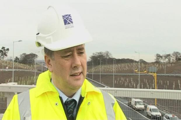 HeraldScotland: Interview with transport minister Keith Brown and GVs of the bypass