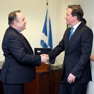 HeraldScotland: Alex Salmond meets David Cameron in St Andrews House, Edinburgh