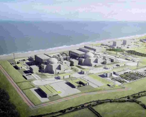 HeraldScotland: An artist's impression of Hinkley Point C