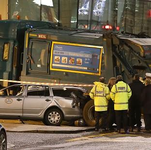 HeraldScotland: Police have begun the investigation into what caused a bin lorry to career along a pavement crowded with Christmas shoppers in the centre of Glasgow