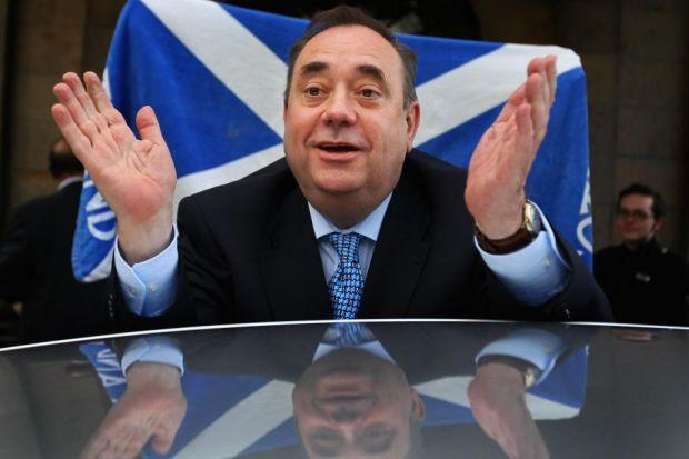 ALEX SALMOND: Will be encouraged by support for independence in Glasgow.