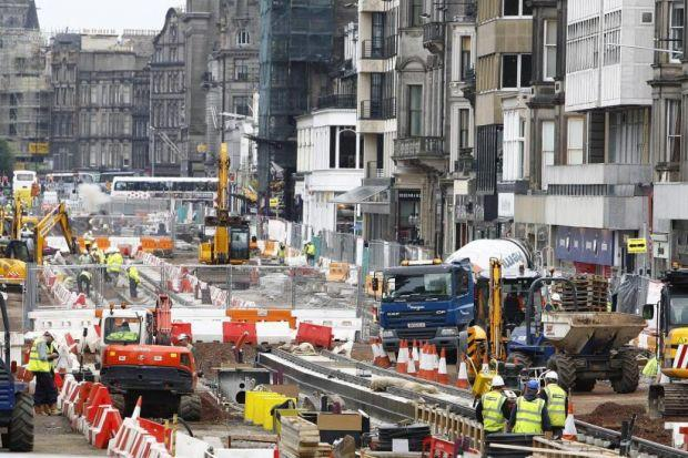 Glasgow streets ahead of edinburgh retailers capitals focus on tale of two cities workers on princes street edinburgh above and the malvernweather Images