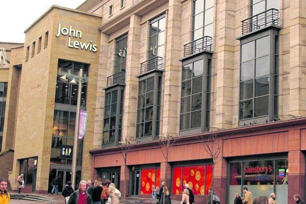 Spending dip: Although hit by the downturn, retailers such as John Lewis have been helped by robust sales of household goods. Picture: Peter Macdiarmid