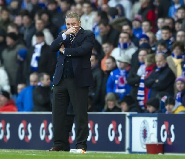 Ally McCoist watches from the sidelines at Ibrox on Saturday