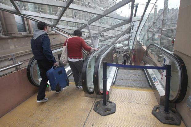 STEP ON: Since the £7million project ended in January, at least one escalator has been out of order each day.