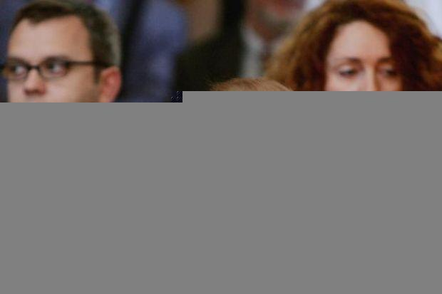 PRESSURE: News Corporation chairman Rupert Murdoch with Andy Coulson, former News of The World editor, and Rebekah Brooks, former editor of The Sun. Picture: Getty Images