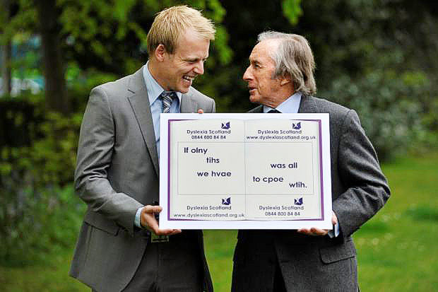 RAISING AWARENESS: Rangers star Steven Naismith and motor racing legend Sir Jackie Stewart both struggled with dyslexia from an early age. Picture: Nick Ponty