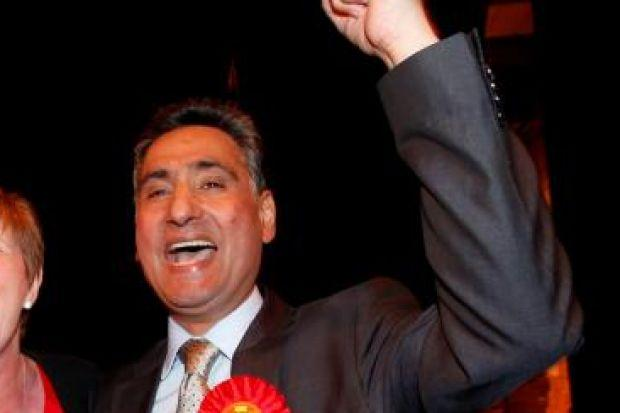 UNDER FIRE: Sohan Singh, pictured celebrating his election win earlier this month, was renting out properties in Glasgow illegally. Picture: Martin Shields