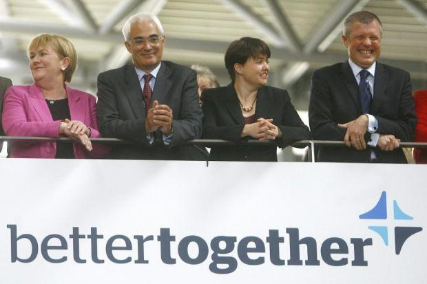 From left: Better Together partners Johann Lamont, Alistair Darling, Ruth Davidson and Willie Rennie