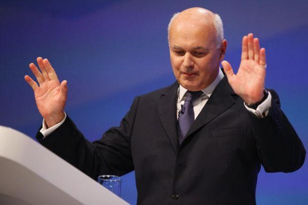 STARK CHOICE: Iain Duncan Smith said an independent Scotland would have to raise taxes or cut services to maintain welfare payments.