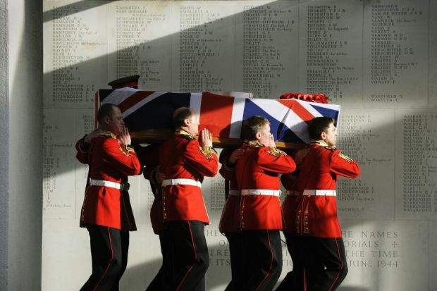 The coffin of Darren Chant is carried out of the Royal Military Chapel at Wellington Barracks in December 2009   Photograph: Adrian Dennis/AFP/Getty