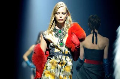 Lanvin's autumn/winter 2012 show featured bold statement necklaces