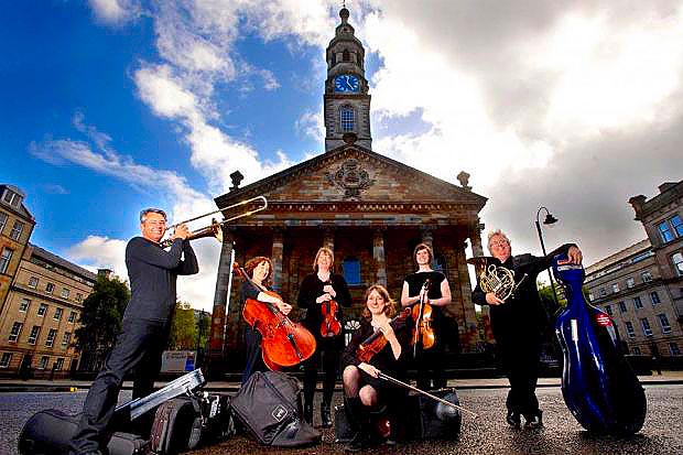 ENSEMBLE: Members of Music Co-operative Scotland at St Andrews in the Square, Glasgow. Picture: Colin Mearns