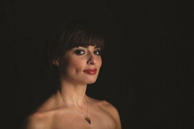 LOSS: Italian dancer Flavia Cacace, this season's face of Ortak, models one of the Scottish jewellery-maker's designs.