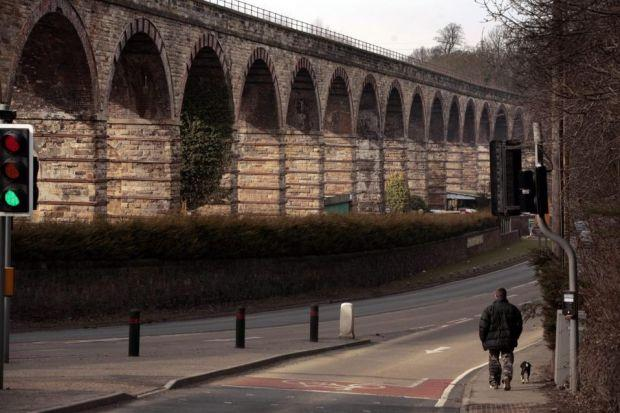 BRIDGING A GAP: The old railway viaduct in Newtongrange, Midlothian, carried the tracks of the former railway line from Edinburgh to the Borders Picture: Steve Cox