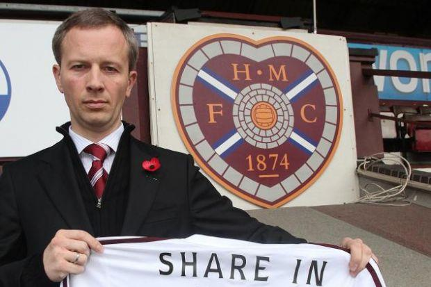 WORKING CAPITAL: Hearts director Sergejus Fedotovas at Tynecastle, where club executives and supporters' groups met in a bid to save the club. Picture: Gordon Terris