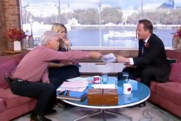 Phillip Schofield ambushes David Cameron on ITV's This Morning programme