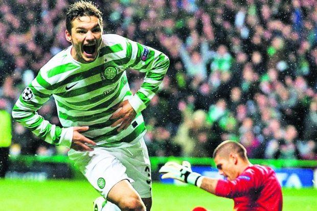 Tony Watt's goal set the seal on a famous Celtic victory Photograph: SNS