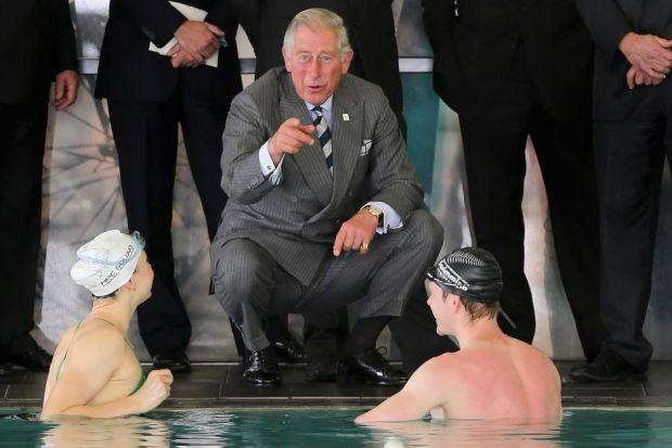 Prince of Wales in the swim