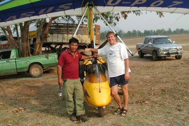 TOM GRIEVE: The Scot was the force behind microlight flying at Nong Prue Flying Club in Pattaya.