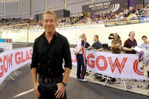 PROUD: Sir Chris Hoy says he still finds it surreal to see his name above the door of the new arena.