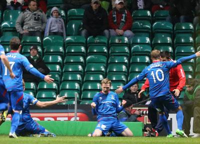 Caley Thistle's Billy McKay celebrates scoring