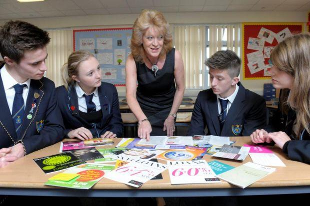 Susan Wilson passes on her knowledge at Airdrie Academy