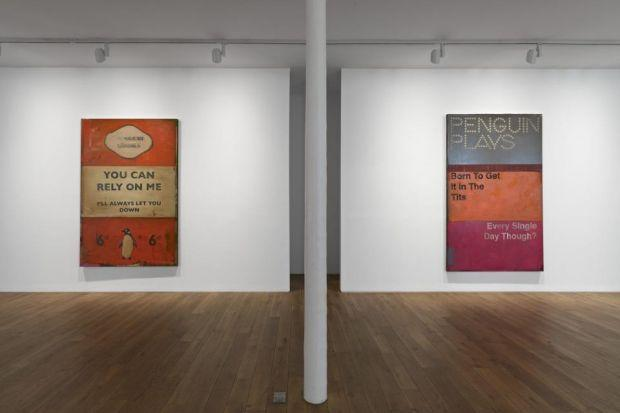 The work of Harland Miller at the Ingleby Gallery