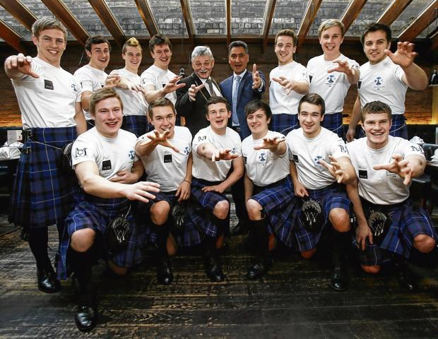 Scotland's World Cup kabaddi team aka Strathclyde University rugby club. Picture: Colin Mearns