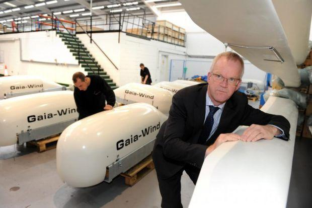 BLOWING STRONG: Johnnie Andringa at his wind turbine factory in Glasgow . Picture: James Galloway