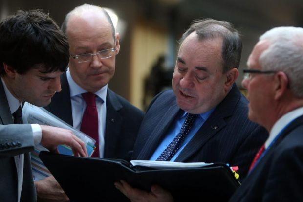 agenda: Alex Salmond now accepts the need for talks on complex issues such as Schengen and the single currency. Picture: Gordon Terris