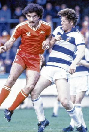 Andy Ritchie clashes with Willie Miller. Benny Rooney, above, one of many Morton managers. Pictures: Herald Archive