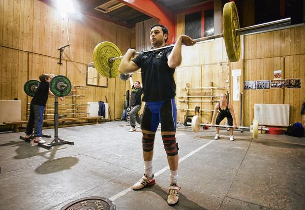 Haris Ansari became the first Scottish Asian weightlifter to win gold at an international event in Austria last June.  Picture: Phil Rider
