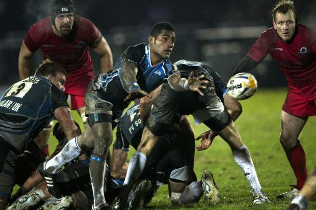 Niko Matawalu releases the ball during Glasgow's victory over Edinburgh   Photograph: SNS