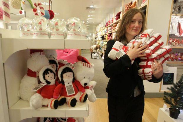 Vicky Allan gets into the Christmas spirit at John Lewis in Edinburgh