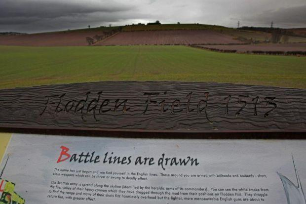 SCENE OF DEFEAT: Archaeologists are mapping the route taken by the Scots and English during the Battle of Flodden, which resulted in the death of  King James IV.  Main picture:  Gordon Terris