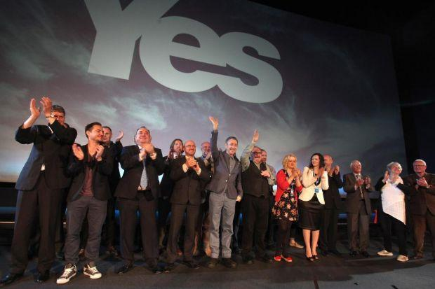 The Yes camp got its campaign underway as the battle over independence commenced