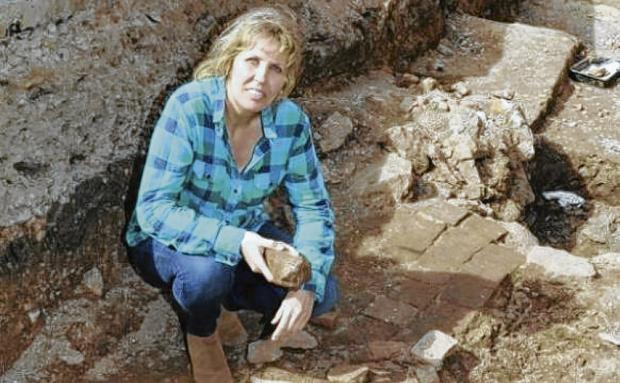 PROUD: Philippa Langley said she was shocked and honoured to have received the Robert Hamblin Award for her role guiding archaeologists to what are believed to be the remains of Richard III.