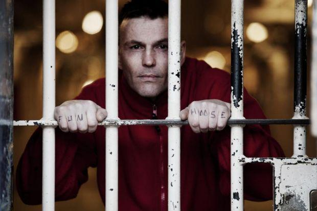 Make 'em laugh: Lifer Jason was the first Barlinnie prisoner to take to the stage and says the comedy classes have been a great help in seeing through his sentence. Picture: Simon Murphy