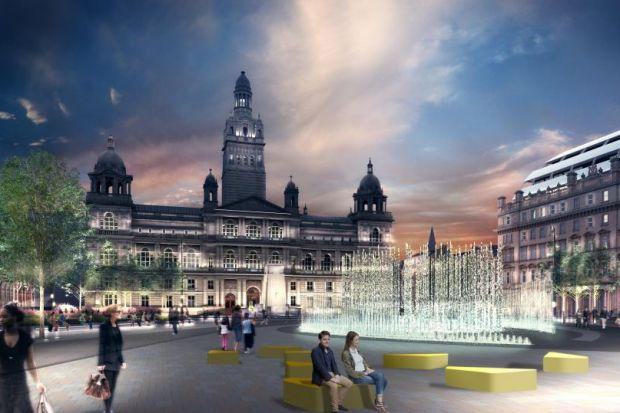 VISION:  The six shortlisted designs include fountains, pavilions, wooded areas and even a surface based on the Glasgow tartan -- but some or all of the statues will be moved.