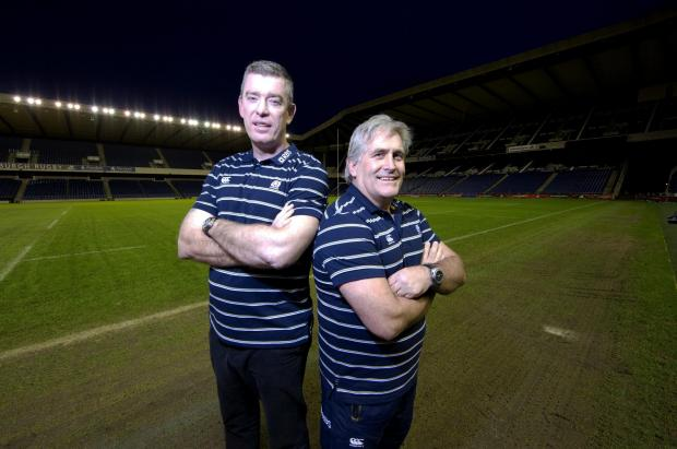 Johnson, right, and Ryan were at great pains to point out the temporary nature of their appointments within Scotland coaching set-up