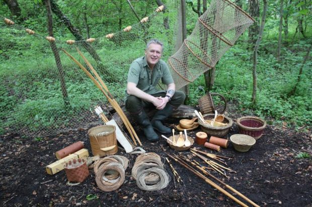 Even in the dampest conditions, it's possible to light a fire with a little help from nature, while a number of items can be made from materials found in the woods, including coracles (a basketwork frame covered with animal hide), shoes and bowls, while f
