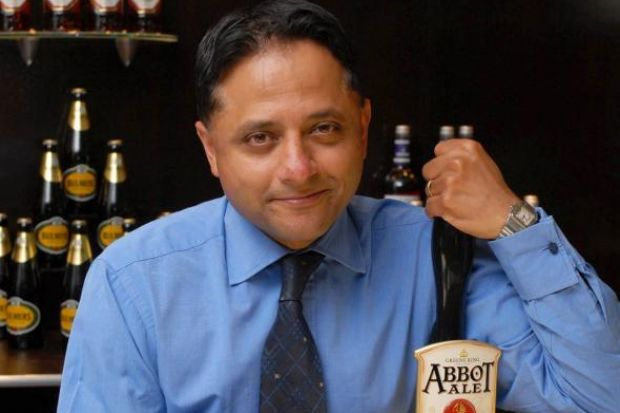 FIGHTING TALK: Green King chief executive Rooney Anand, asserts the real beer credentials of his company.