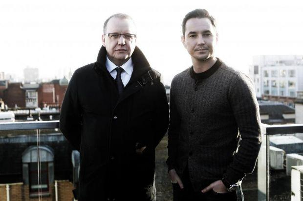 ON A ROLE: Actor Martin Compston, right, grew up with the story of Paul Ferris, left. Now he plays the part of a young Ferris. Picture: Mark Mainz