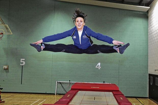 Lauren Millar turned to trampolining seven years ago after giving up gymnastics. Picture: Steve Cox