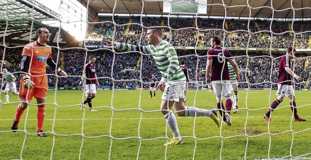 Celtic's scoring started with Gary Hooper, but he may not end the season at the club. Picture: Craig Williamson/SNS