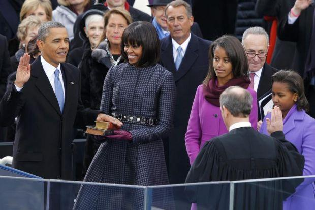 FOUR MORE YEARS: Barack Obama's second term in the White House has begun after the ceremony.