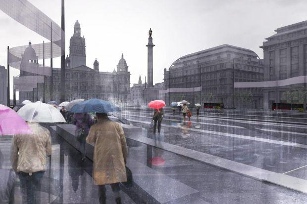 DITCHED: Glasgow City Council has scrapped the £15 million plan to radically revamp George Square, at the heart of the city centre.